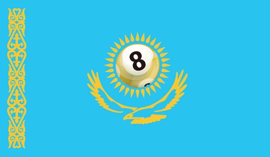 Kazakstans flagga